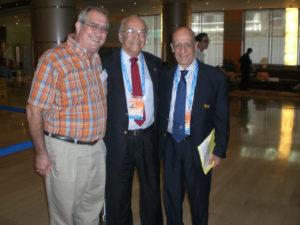 Don Orban Mendoza, Bureau FINA de Puerto Rico, y Dr. Julio Miglioni, Pres. FINA