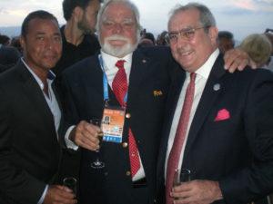 Con Eugenio Martinez, miembro Bureau FINA, Cuba
